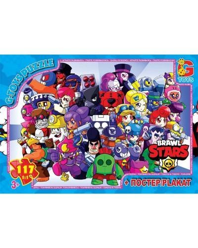"Пазли ТМ ""G-Toys"" із серії  ""Brawl Stars"" (Бравл Старс), 117 ел. BS372"