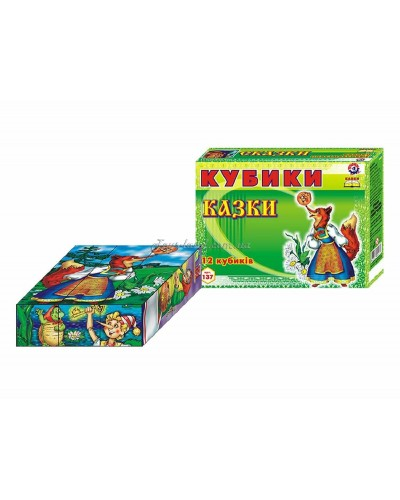 "Кубики ""Сказки"" (12 куб.), арт. 0137, ТехноК"