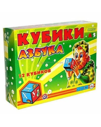 "Кубики ""Азбука"" (12 куб.), арт. 0182, ТехноК"