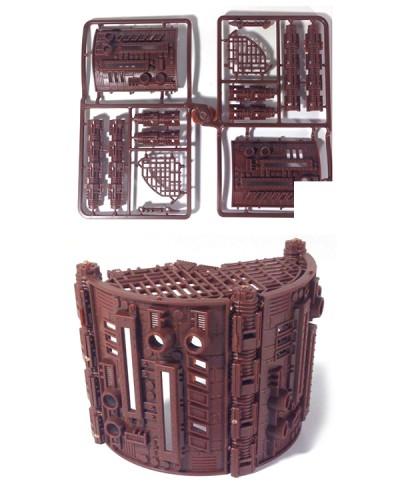 Скайтьюб - отливка №1 00200_1*Тх Закругленные стены строительный набор, 1 отливка, Технолог