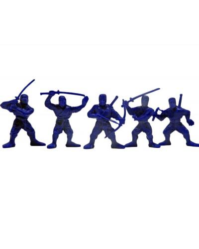 """Варгейм Набор воинов """"Отряд Цунами"""" без коробки (5 воинов/ цвет темно-синий), Fantasy"""