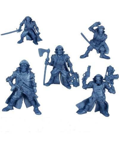 "Варгейм Набор воинов ""Легион Центурион"" без коробки (5 воинов/ цвет синий металик), Fantasy"