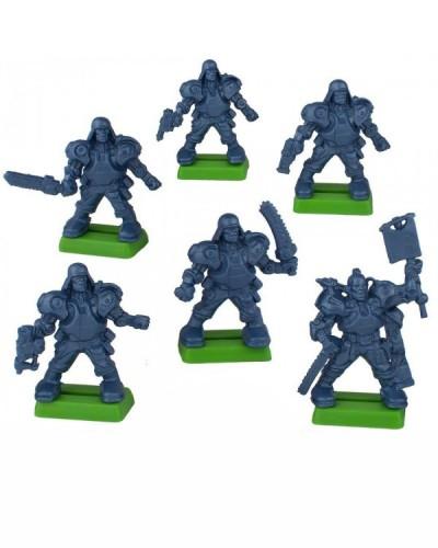 """Варгейм Набор бронепехота """"Легкая роботизированая пехота"""" без кор. (6 воин. на под./цвет. син.метал)"""