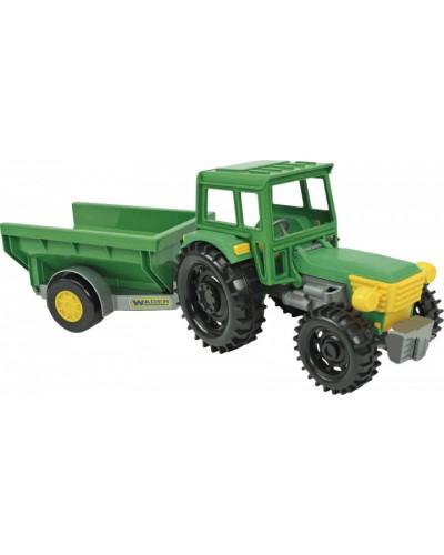Трактор Фермер с прицепом в коробке
