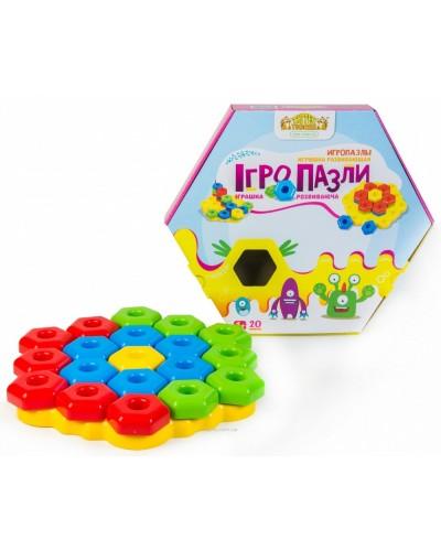 """Развивающая игрушка """"Игро пазлы"""" 20 ел."""