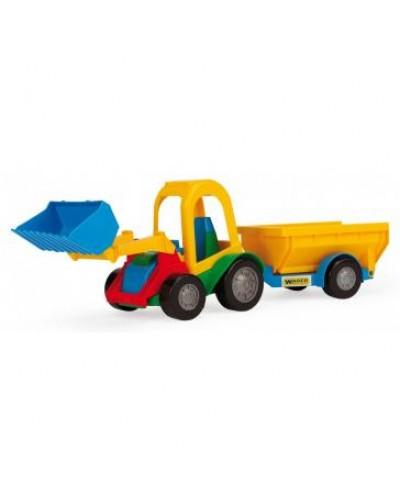 Трактор-багги с ковшем и прицепом, в коробке