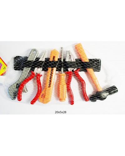 Набор инструментов 8968-7  клещи, плоскогубцы, молоток, отвертка, в сетке 14см