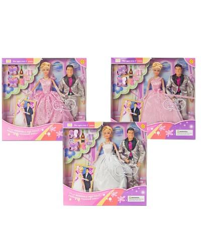 """Кукла """"Defa Lucy"""" 20991 в свадебном платье, с Кеном, аксесс., в кор.33.5*34*6см"""