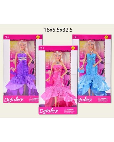 """Кукла """"Defa Lucy"""" 8240 в вечернем платье с сумочкой, в кор. 18*5,5*32,5см"""