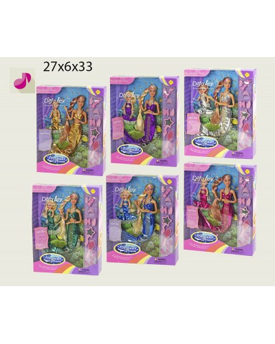 """Кукла """"Defa Lucy""""""""Русалочка"""" 20978 6 видов,меняет цвет волос,с куколкой,аксесс.,в кор. 29см"""