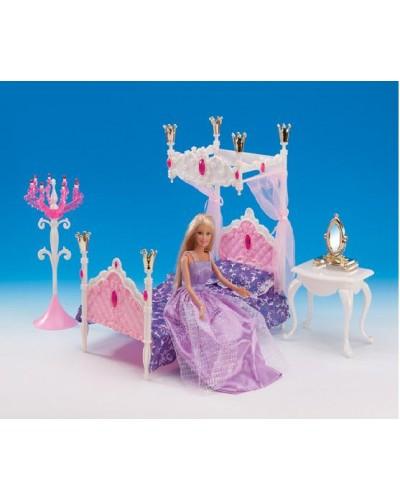 """Мебель """"Gloria"""" 1214  для спальни, кровать, столик, зеркало,...,в кор.31*17.5*6см"""