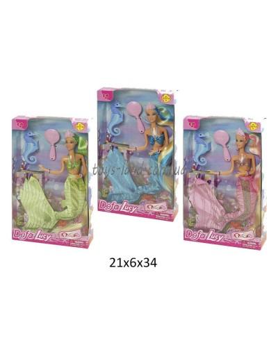 """Кукла """"Defa Lucy""""""""Русалочка"""" 8225 (48шт/2) 3 вида, с аксессуарами, в коробке"""