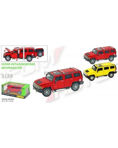 "Машина металл 68263A ""АВТОПРОМ""М1:24 Range Rover, бат, свет, зв, откр. двери, капот, багаж. в кор.24"