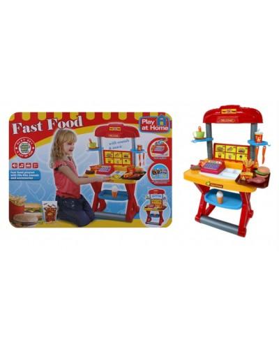 """Набор """"Fast Food"""" 661-63  батар, звук, касса, продукты,посуда, в кор.63*8*45см"""