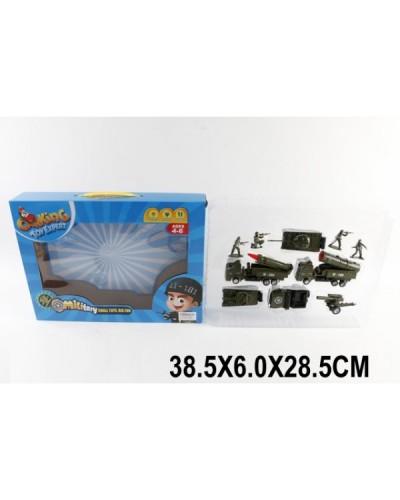 Набор транспорта TH-H039 (1512630) Воен., в коробке 38,5*6*28,5см