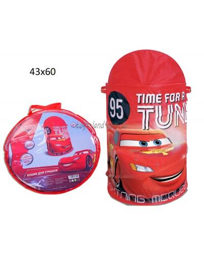 Корзина для игрушек D-3505 (24шт)  Cars в сумке ,43*60 см