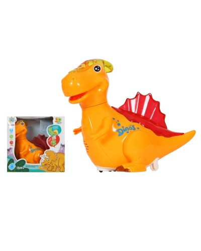 Муз.динозаврик 2801 (1364527)  2 цвета,  батар, в короб. 21*14*20,5см