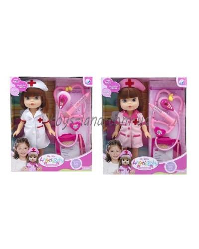 "Кукла ""Доктор"" A301  2 вида, шприц, стетоскоп, планшет, в кор."