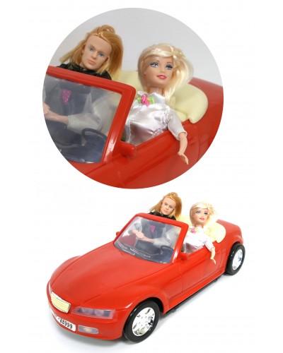 Машина для куклы  66742 с куклой и Кеном, в кор. 49*23*24см