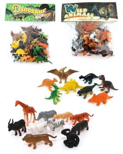 Животные 866-C1/C2/C3/C411 4 микс, 33 шт в пакете 20см