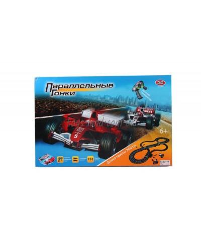 Трек на руч.генераторе 0865 PLAY SMART 2машинки, в коробке 55*36*7,5см