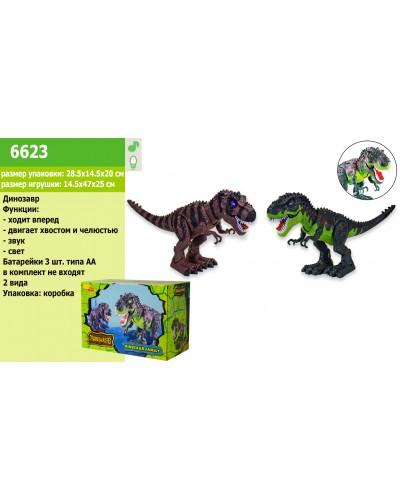 Животные 6623  динозавр, свет, звук, ходит, в коробке 29*20*14.5