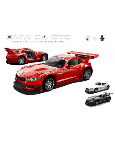 """Машина аккум р/у 866-1812B """"BMW Z4 GT3"""",красн, белая, черн пульт на батар., в кор 19*8,2*5см"""
