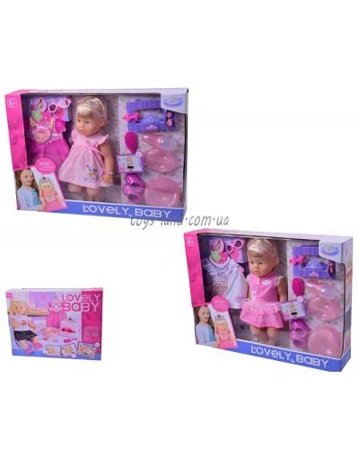 Кукла функц WZJ013-1/2 4 вида, муз, пьет/пис, горш, тарел, лож, бут, одеж,расческа,акс в кор.59*12*4