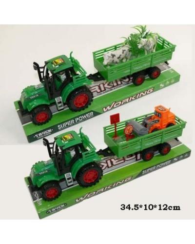 Трактор инерц 1035-7/9 (845117/19)  2 вида, под слюдой 34,5*10*12см