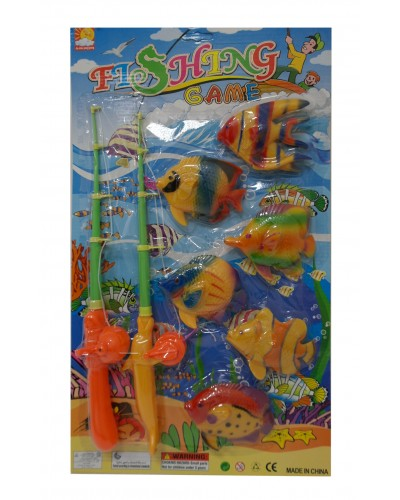 Рыбалка 13183 магнит., 2удочки,6рыбок,на планшетке 53*30см