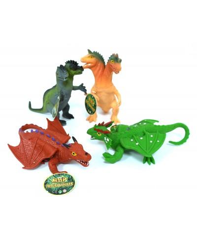 """Животные резиновые 7208 """"Динозавры""""12 шт в боксе 28*15*9см"""