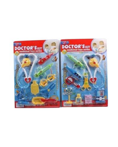 Доктор 3129 стетоскоп, шприц, очки, ножницы, ванночки…,2 вида, на планшете 43*29см