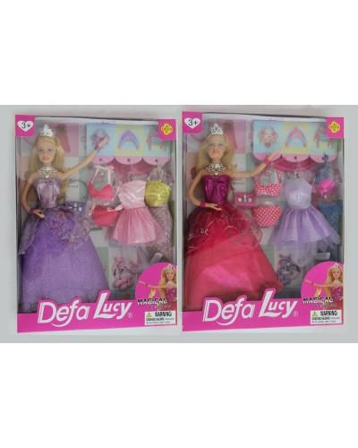 """Кукла """"Defa Lucy"""" 8269 2 вида,с одеждой,аксесс, в кор."""