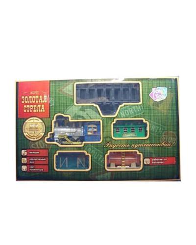 """Железная дорога 0621 """"Золотая стрела""""батар.муз.,свет.эффекты,поезд, 3 вагона, в кор. 70*44*10см"""