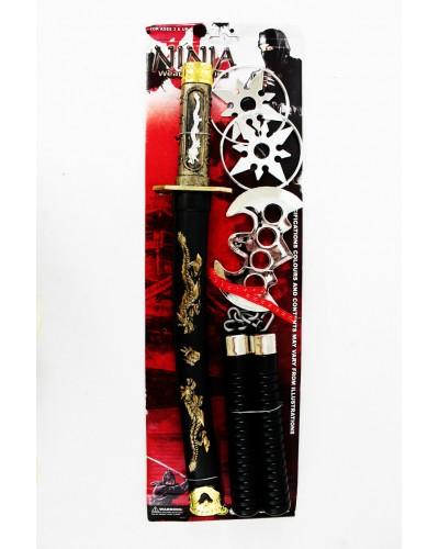 """Набор оружия """"Ниндзя"""" 8424 меч, нунчаки, сюрикены, в кор. 50*24*7см"""