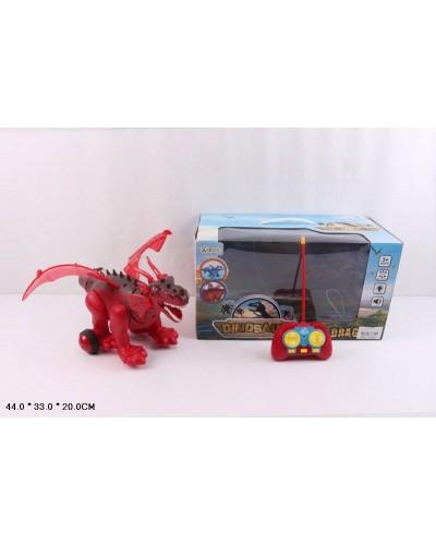Животные на р/у 1019A батар,  динозавр, в короб. 44*33*20см