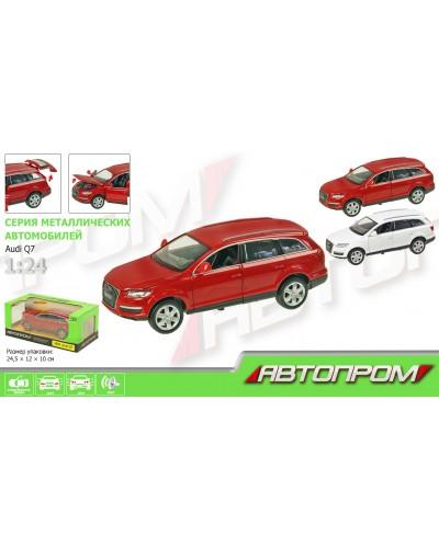 """Машина металл 68249A """"АВТОПРОМ"""", батар., свет, звук, откр.двери,капот, багаж., в кор. 24,5*12,5*1"""