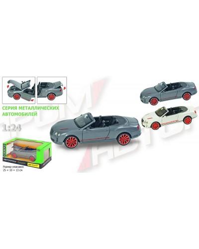 "Машина металл 68259A ""АВТОПРОМ"", М1:24 Bentley, бат, свет, зв, откр.двери, капот, багаж, в кор.24,5*"