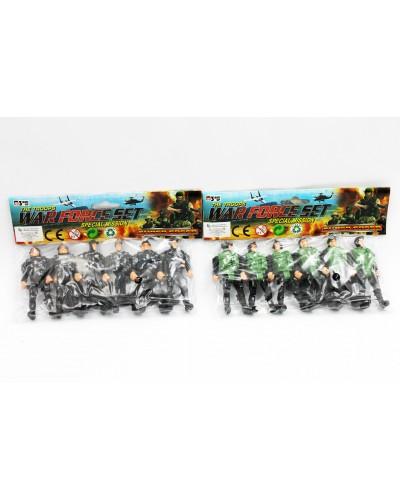 Военный набор 5866 солдаты, в пакете 19 см