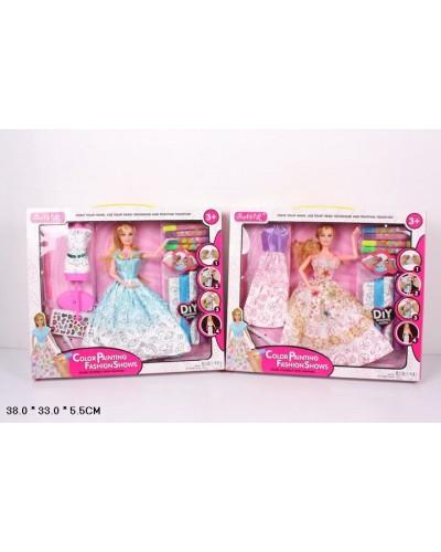 "Кукла типа ""Барби""Создай сам"" 902 2 вида, с аксессуарами в наборе, в кор.38*33*5,5см"