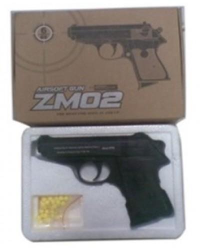 Пистолет метал ZM02 пульки в кор. 20*14*5см