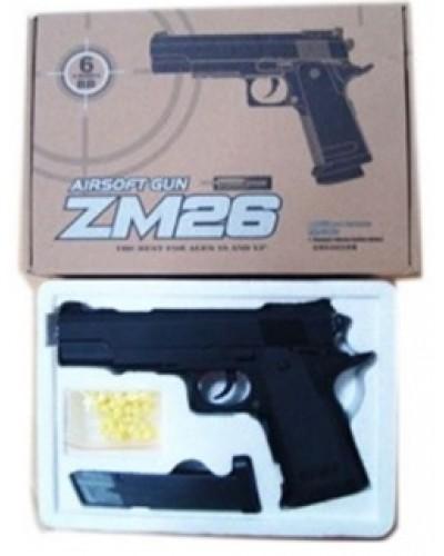 Пистолет метал ZM26 пульки в кор. 22*15,5*4,5см