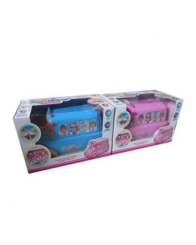 """Муз. разв. игрушка BT-2221E """"фургон мороженого"""", 2 цвета, батар., муз,  в кор.30*16*17см"""