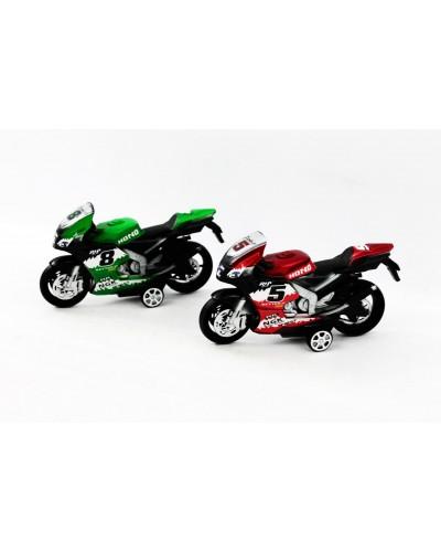 Мотоцикл инерц 607 в пакете 17*5см