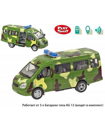 """Машина батар 9098-F серия""""Автопарк"""",откр.двери, звук, свет фар, в кор. 22,5*12*12,5см"""