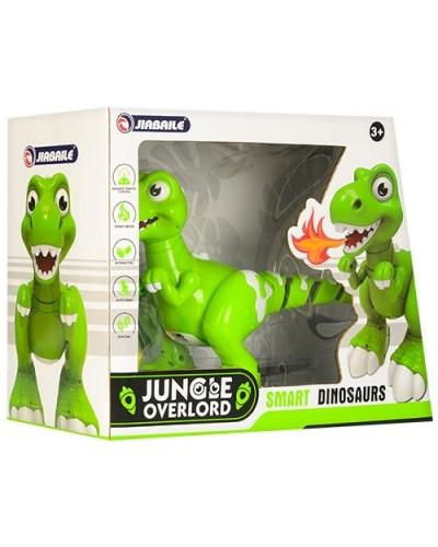 Интерактивный динозавр 908A р/у, usb заряд., пар, ездит,танцует, звук,свет, в кор 40*17*30 см