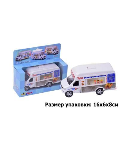 "Машина металл ""KINSMART"" KS5255W ""Tacos Truck"" в коробке 16*8*7,5см"