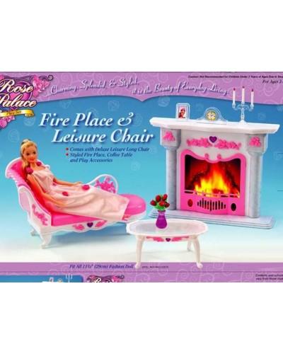 "Мебель ""Gloria"" 2618 софа, камин, столик, аксессуары, в кор."