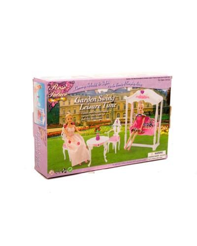 """Мебель """"Gloria"""" 2619 для терассы, качеля, столик, 2 стула, в кор."""