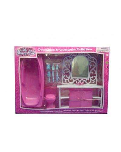 """Мебель """"Gloria"""" 94013GB умывальник с зеркал и тумбой, ванна, унитаз, халат, аксесс, в кор.47*12*33"""